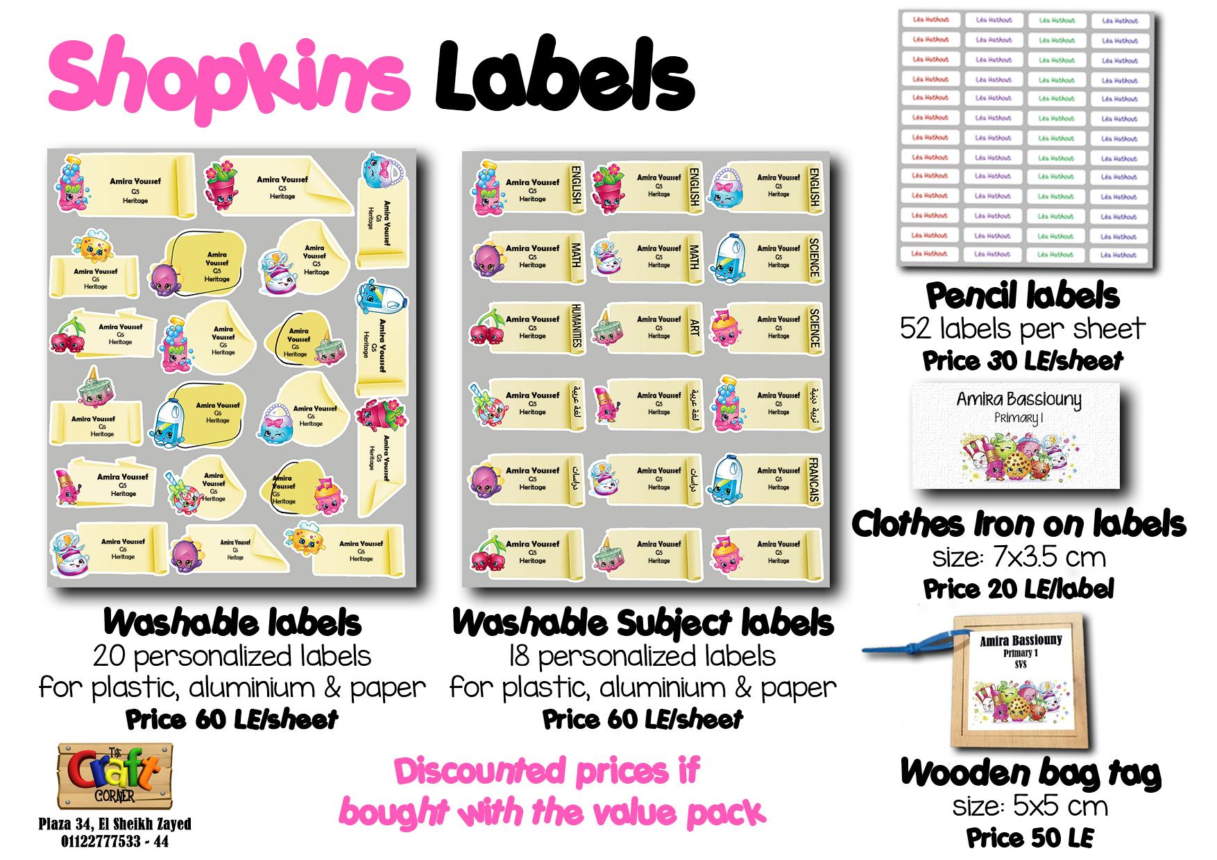 shopkins Labels
