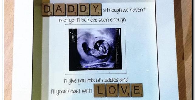 DADDY LOVE shadow box