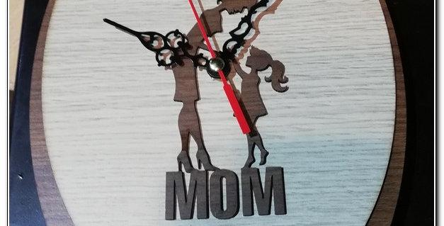 Personalized mum wall clock
