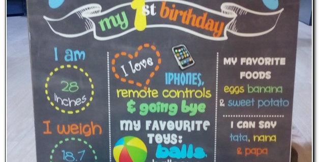 Chalkboard colourful theme