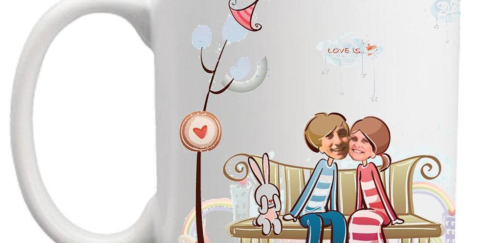 Love caricature mug (personalized)