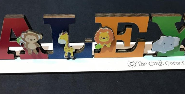 Themed personalized Name stands
