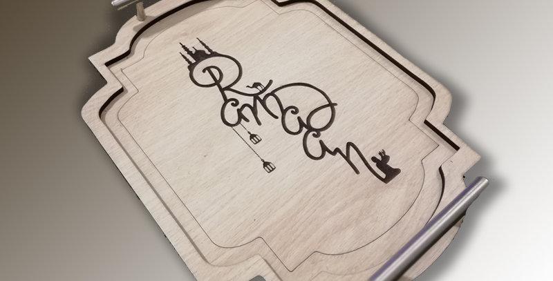 Ramadan wooden tray