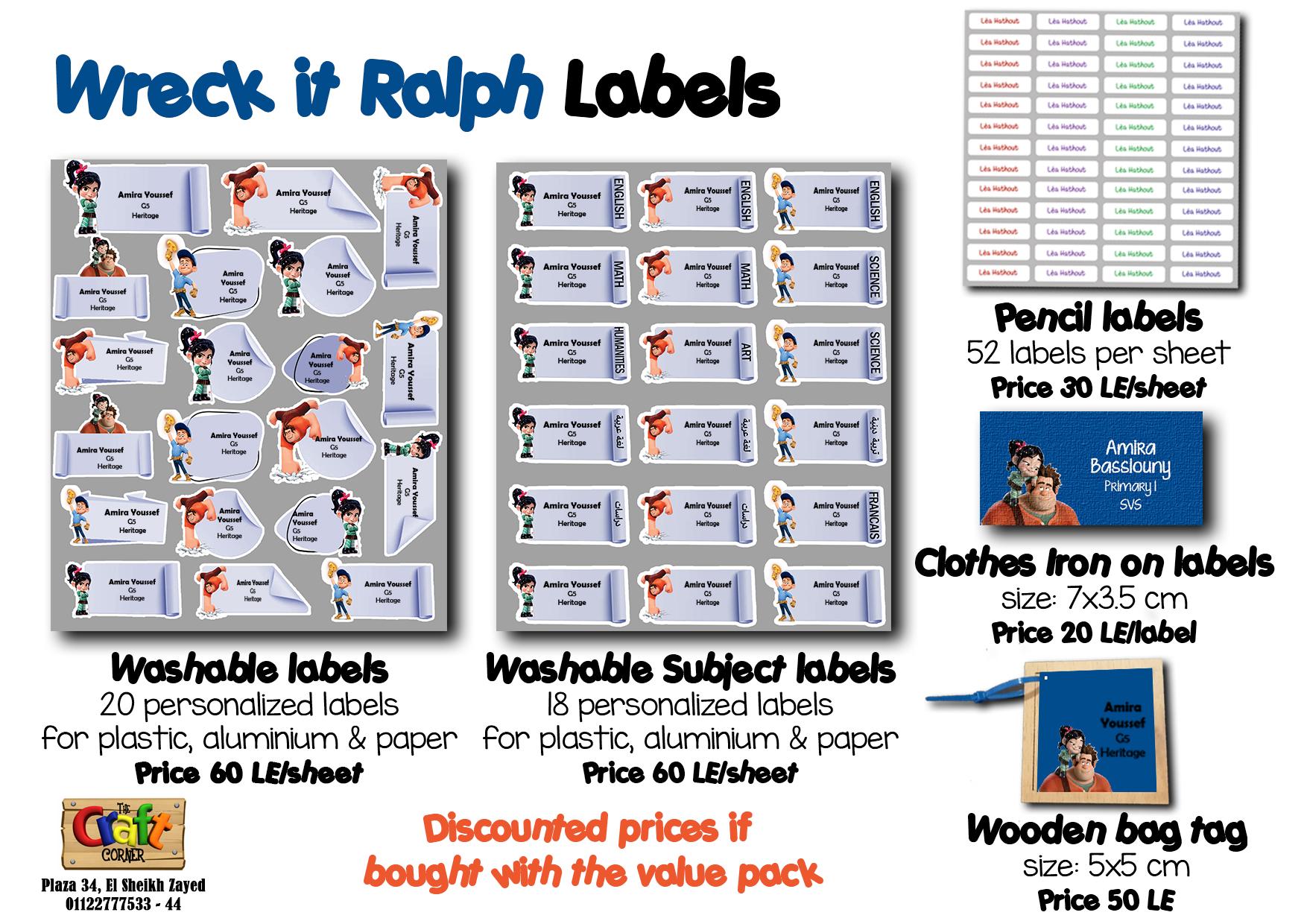 wreck it ralph Labels