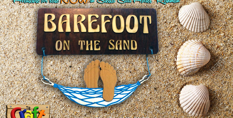 Barefoot on the sand