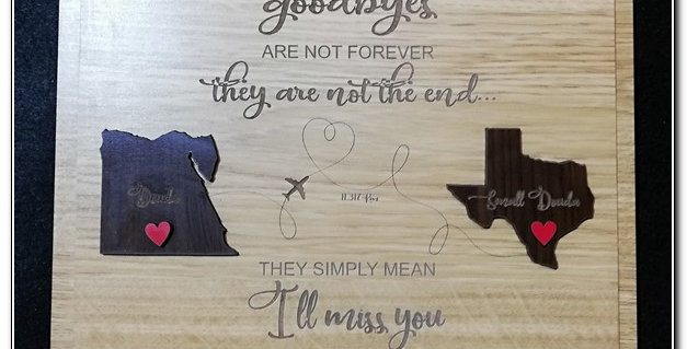 Goodbyes wooden plaque