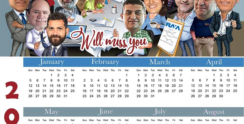 Personalized Caricature Calendar