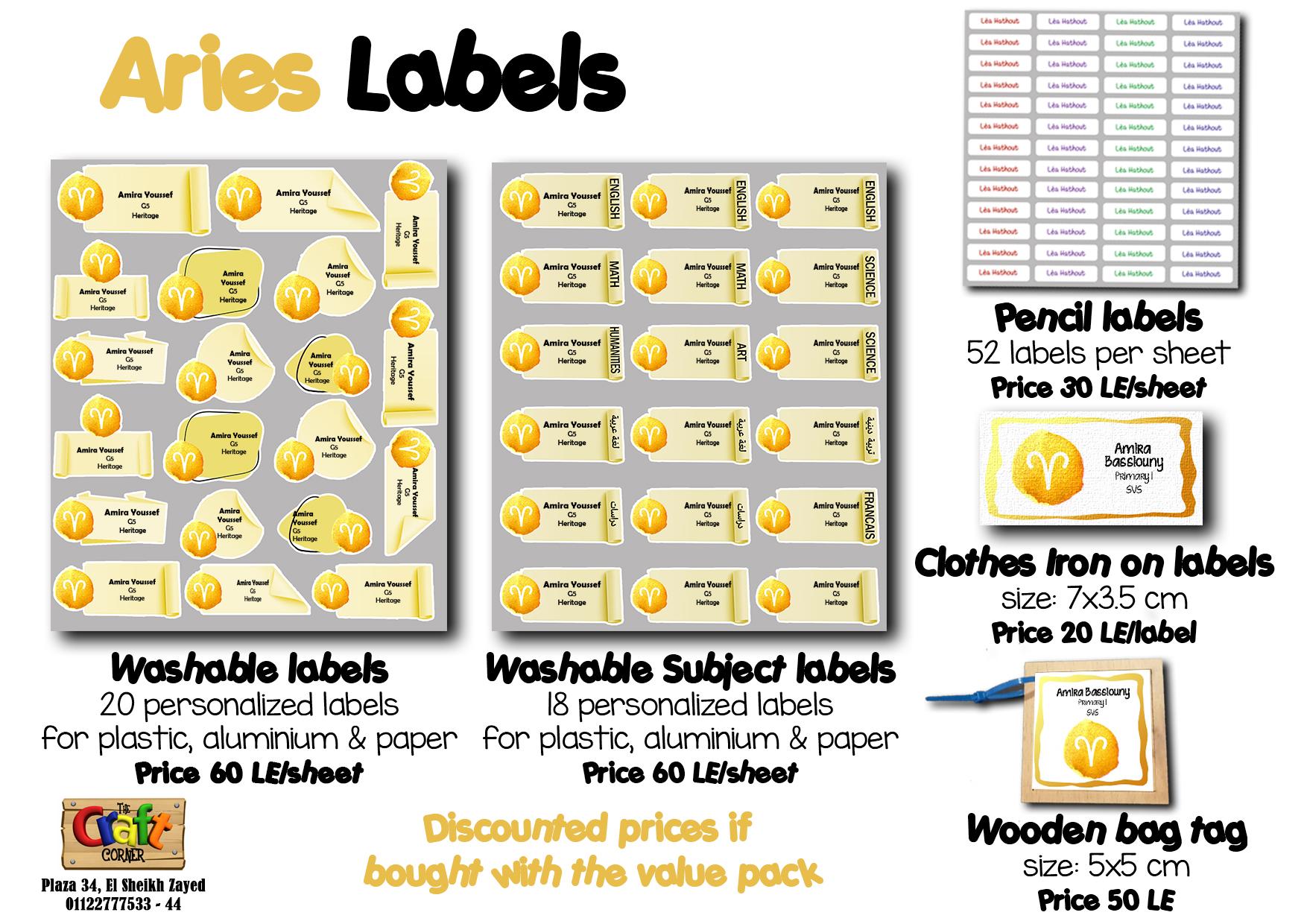 Aries Labels