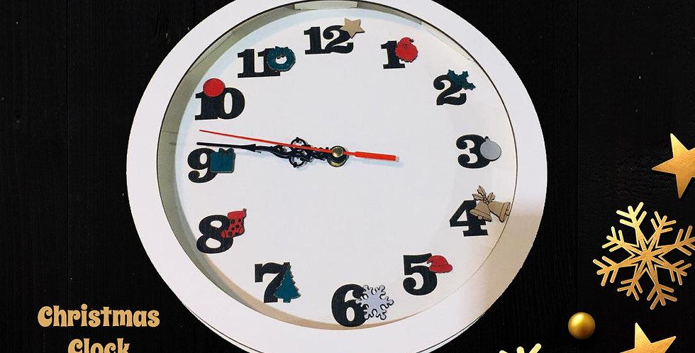 Christmas themed wall clock