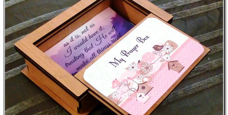 Prayer wooden box