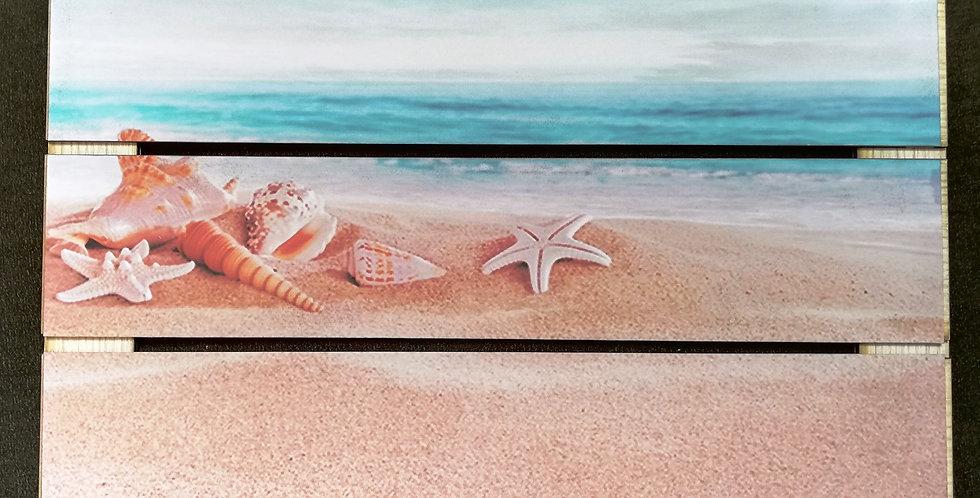 Beach wooden strips wall art