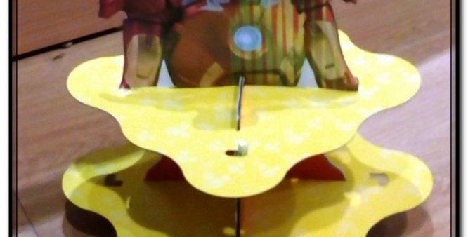Cardboard themed cupcake stand