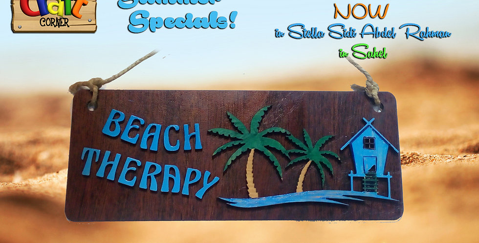 Beach Therapy wood wall art
