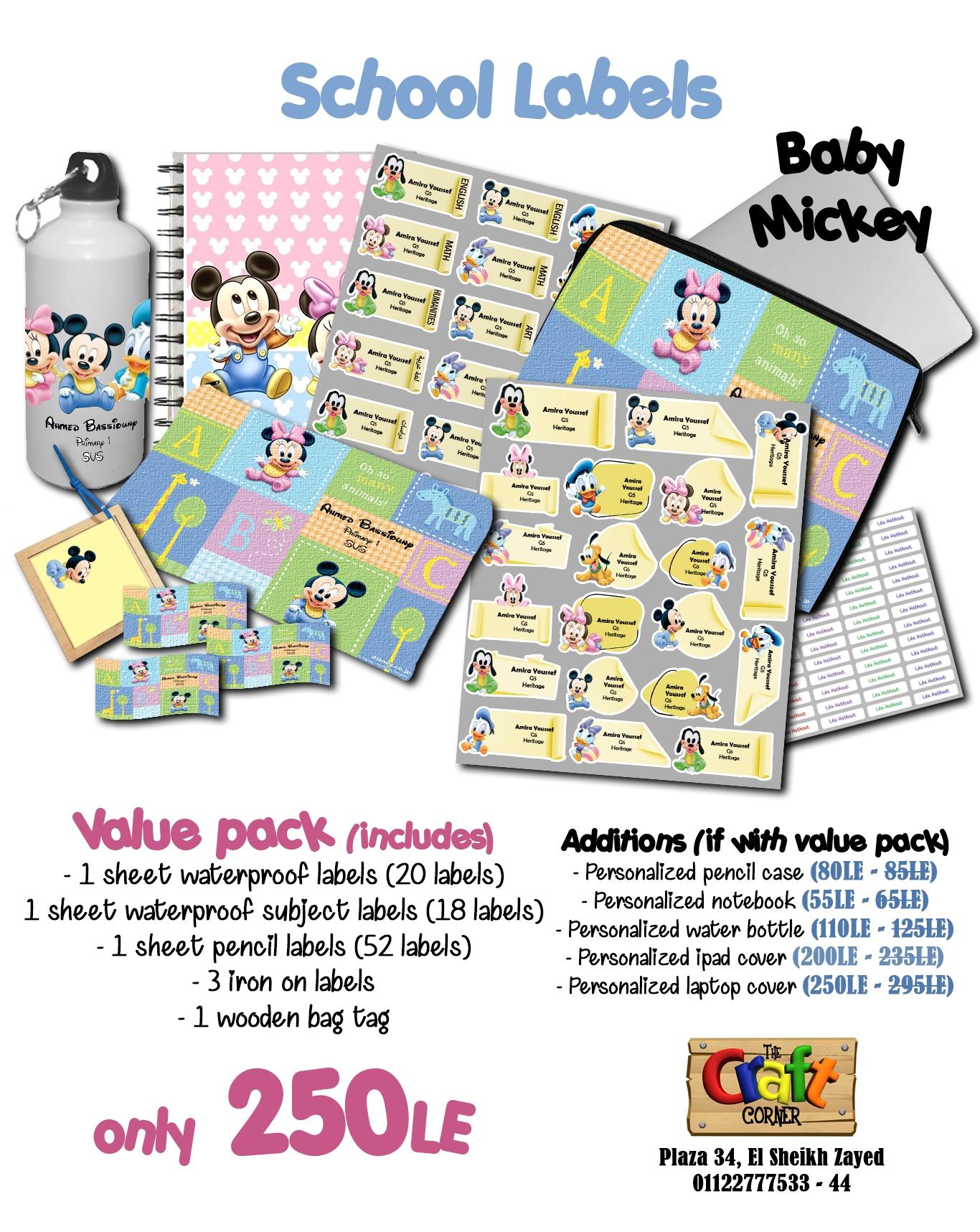 Baby mickey ad
