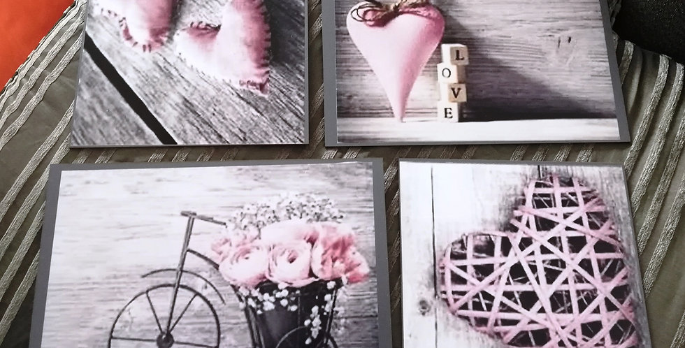 Pink collection wall art