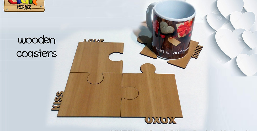 Personalized puzzle coasters