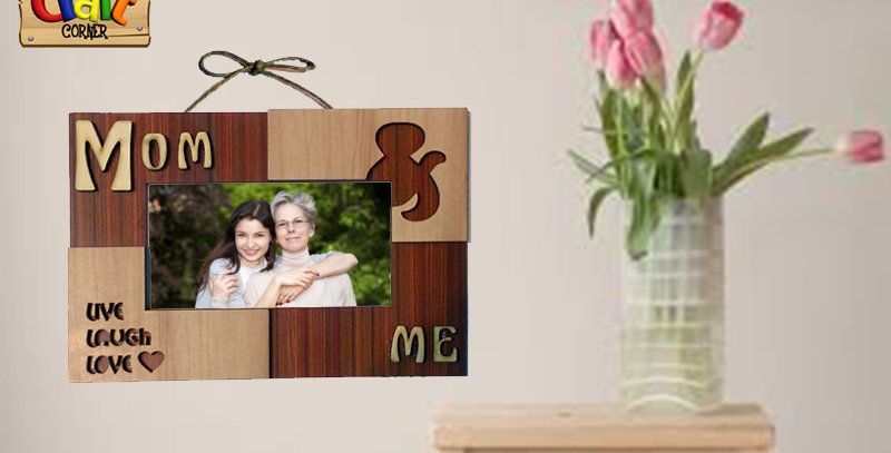 Mom & Me wooden frame
