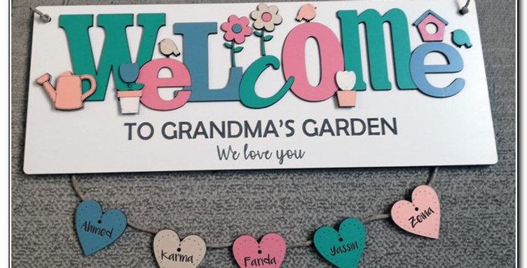 Welcome to Grandma's garden board