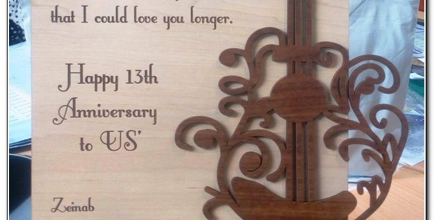 Personalized wooden stand