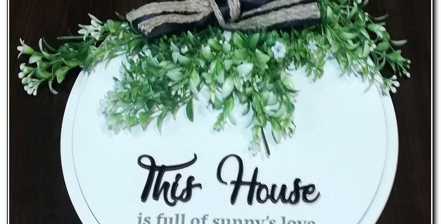 This house ... door/wall sign (personalized)