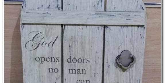God opens doors wall art