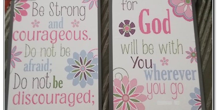 Set of 2 inspirational wood based wall art