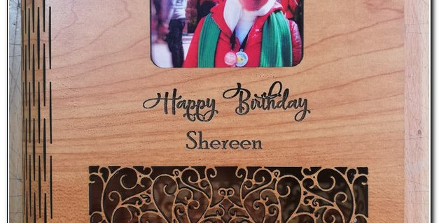 Bendable personalized wooden box