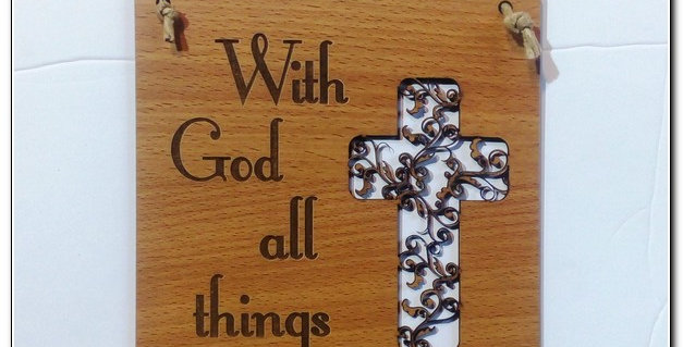 With God All things are possible wall art