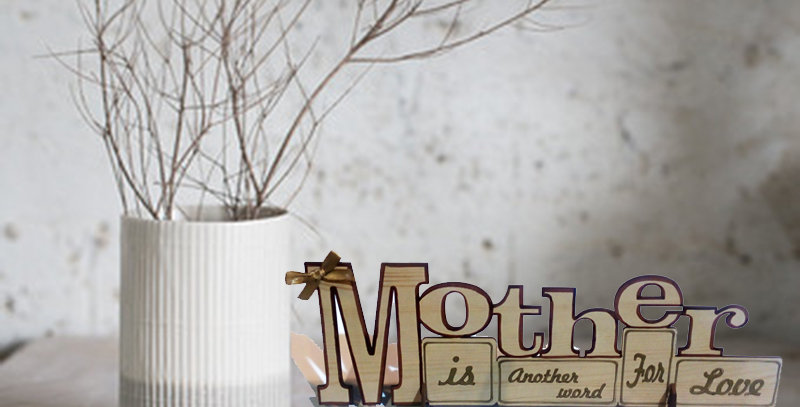 Personalized MOTHER wooden stand