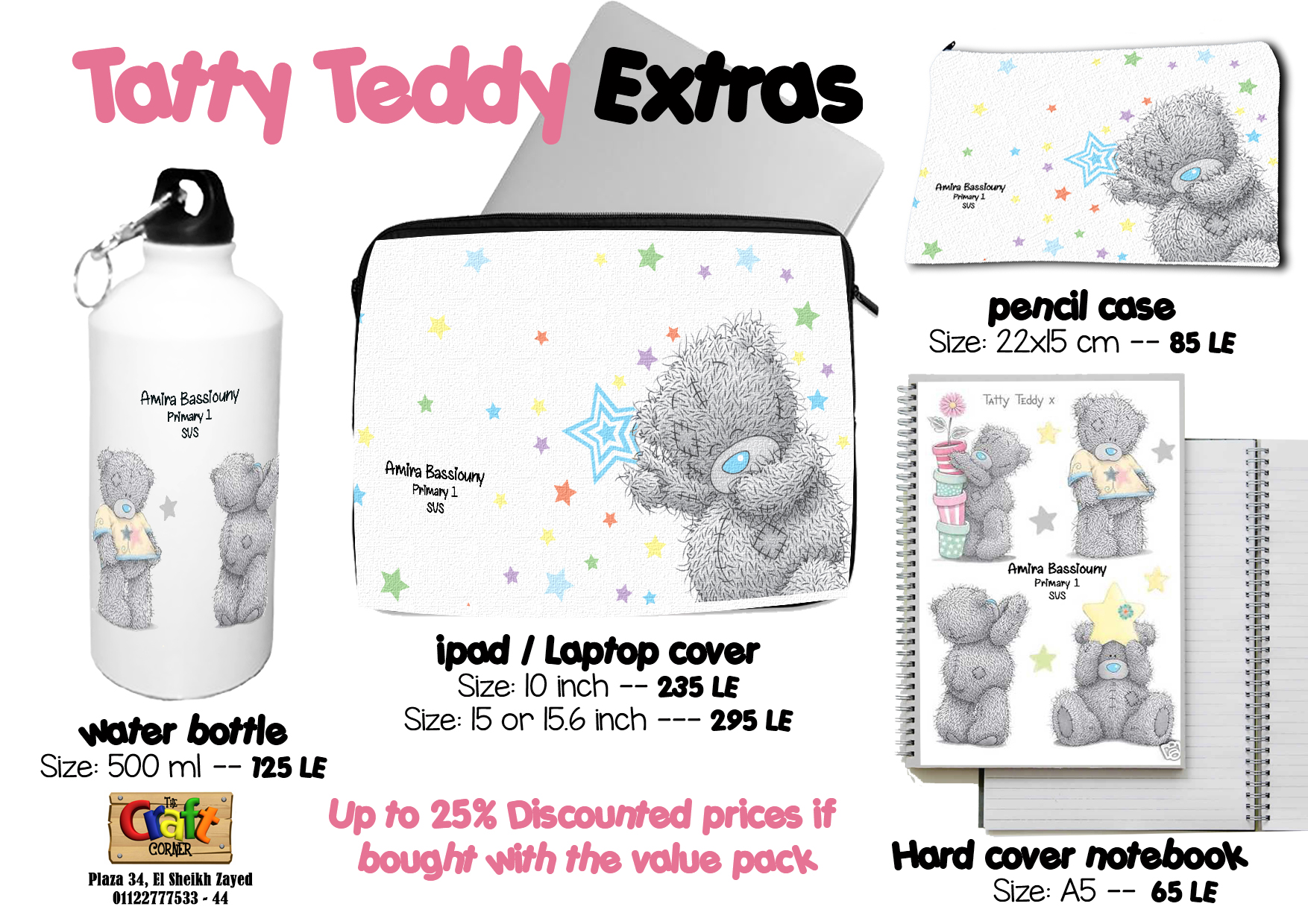 tatty teddy Extras