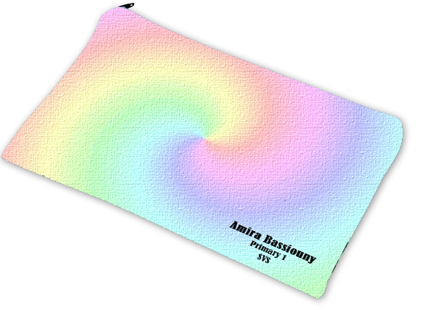 rainbow pencil case