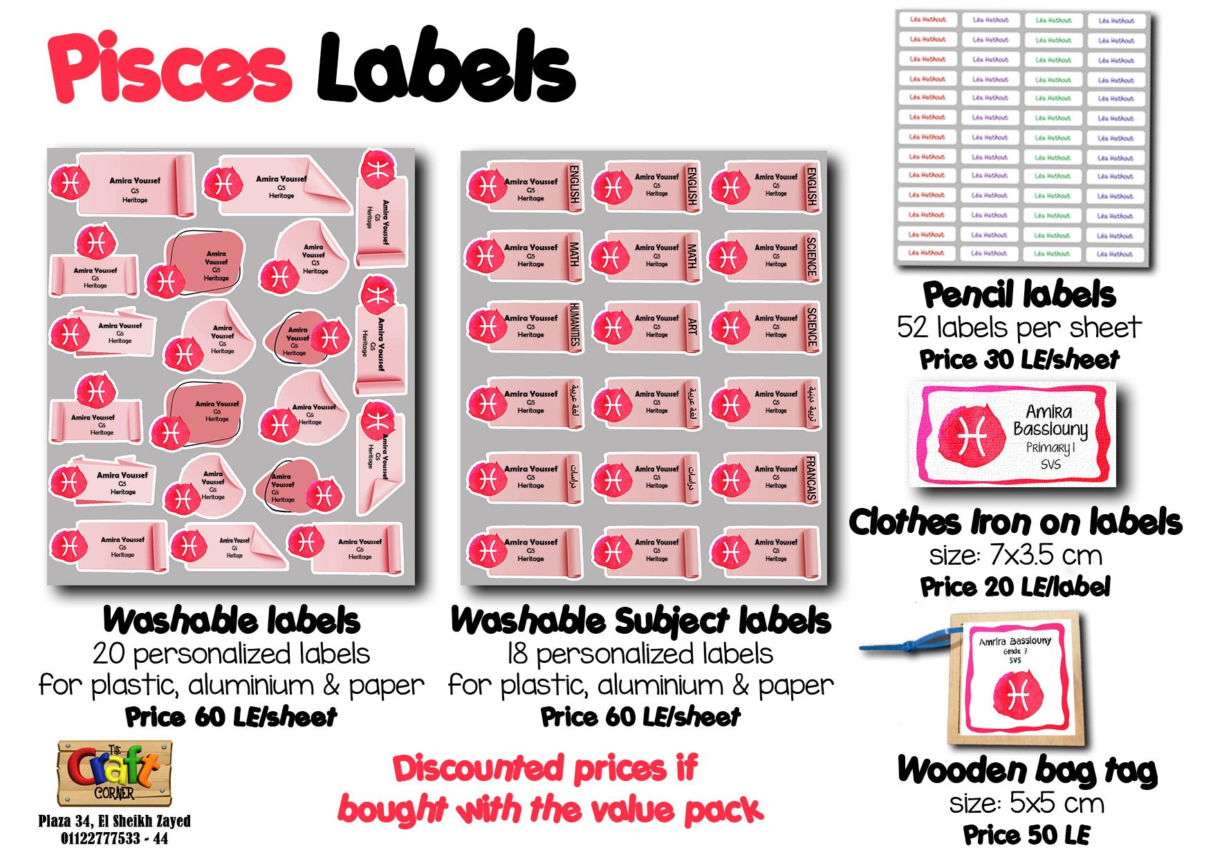 Pisces Labels