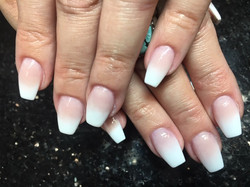 Arcylic pink and white ombre