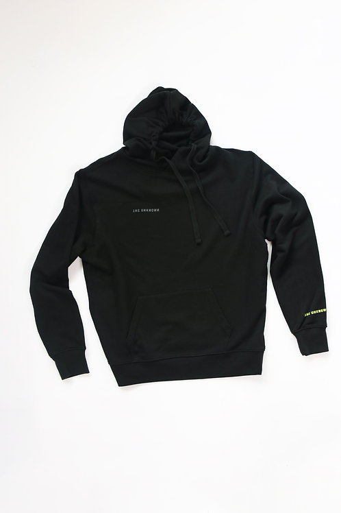 UNKNOWN LOGO HOODIE - BLACK