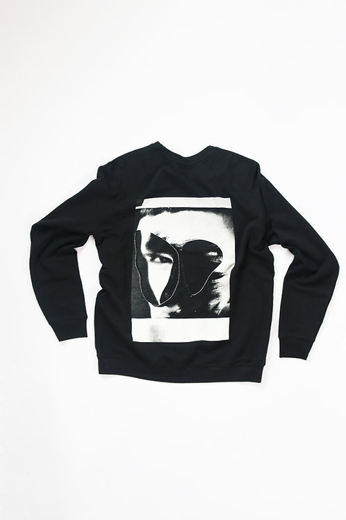 UNKNOWN SWEATER - COLAGE PRINT - WHITE