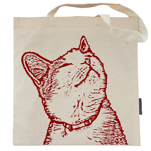 Whiskers the Tabby Cat Tote Bag