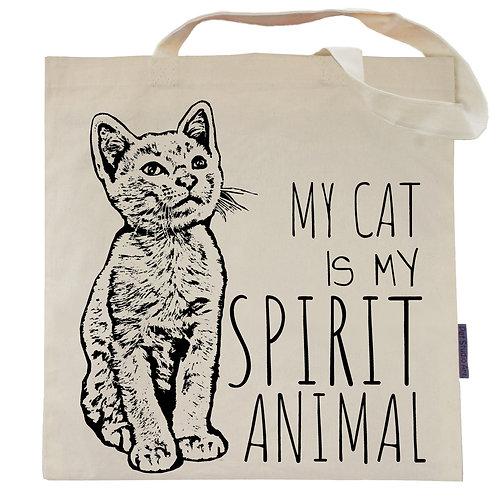 My Cat is My Spirit Animal Tote Bag