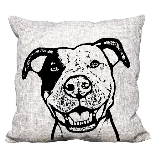 Pit Bull Throw Pillow Cover