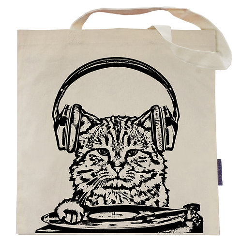 Listen to the Mewsic Tote Bag