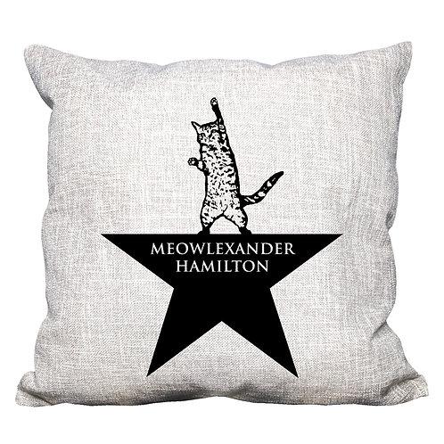 Meowlexander Hamilton Throw Pillow Cover