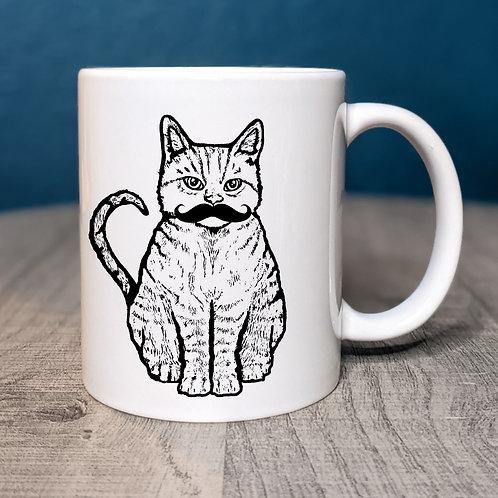 Mr. Meowstache Coffee Mug