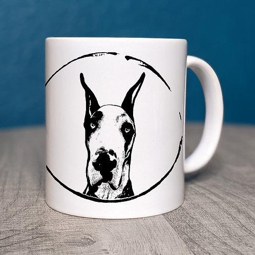 Great Dane Cropped Ears Coffee Mug