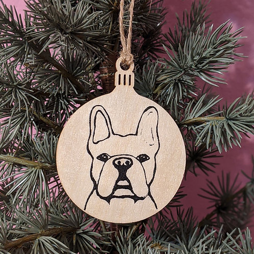 Ben the French Bulldog Holiday Ornament