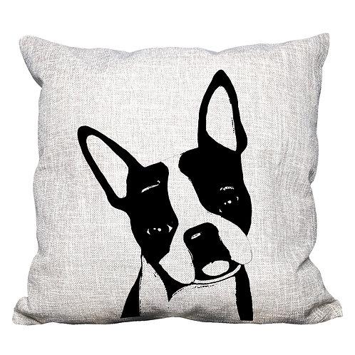 Boston Terrier Throw Pillow Cover