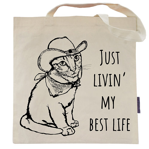 Just Livin My Best Life Tote Bag