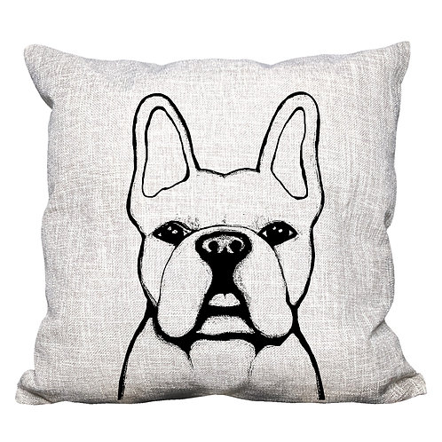 French Bulldog Throw Pillow Cover