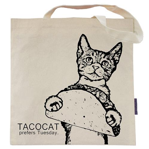 TacoCat prefers Tuesday Tote Bag