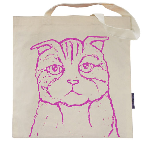 Mary the Scottish Fold Cat Tote Bag