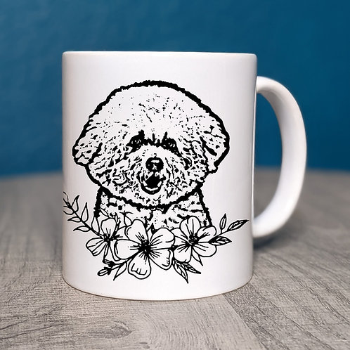 Bichon Frise Flower Power Coffee Mug