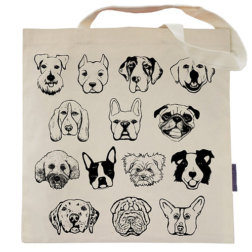 The Faces of Dog Tote Bag